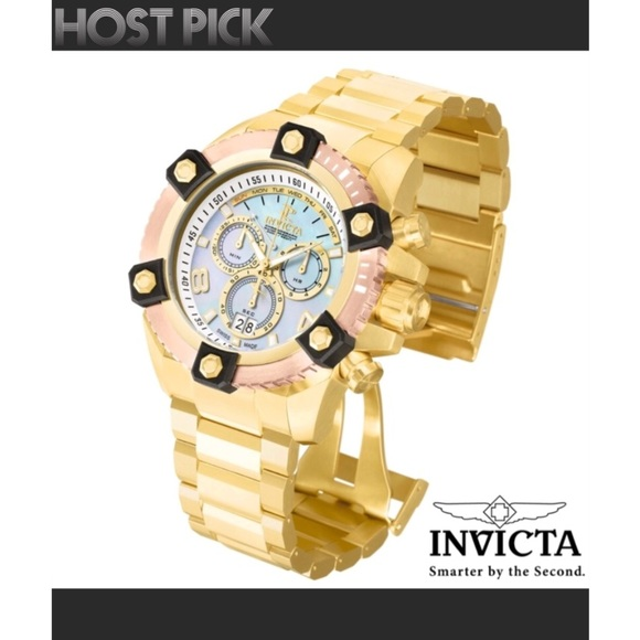 Invicta Other - INVICTA RESERVE SWISS WATCH - GOLD/ROSE/PEARL